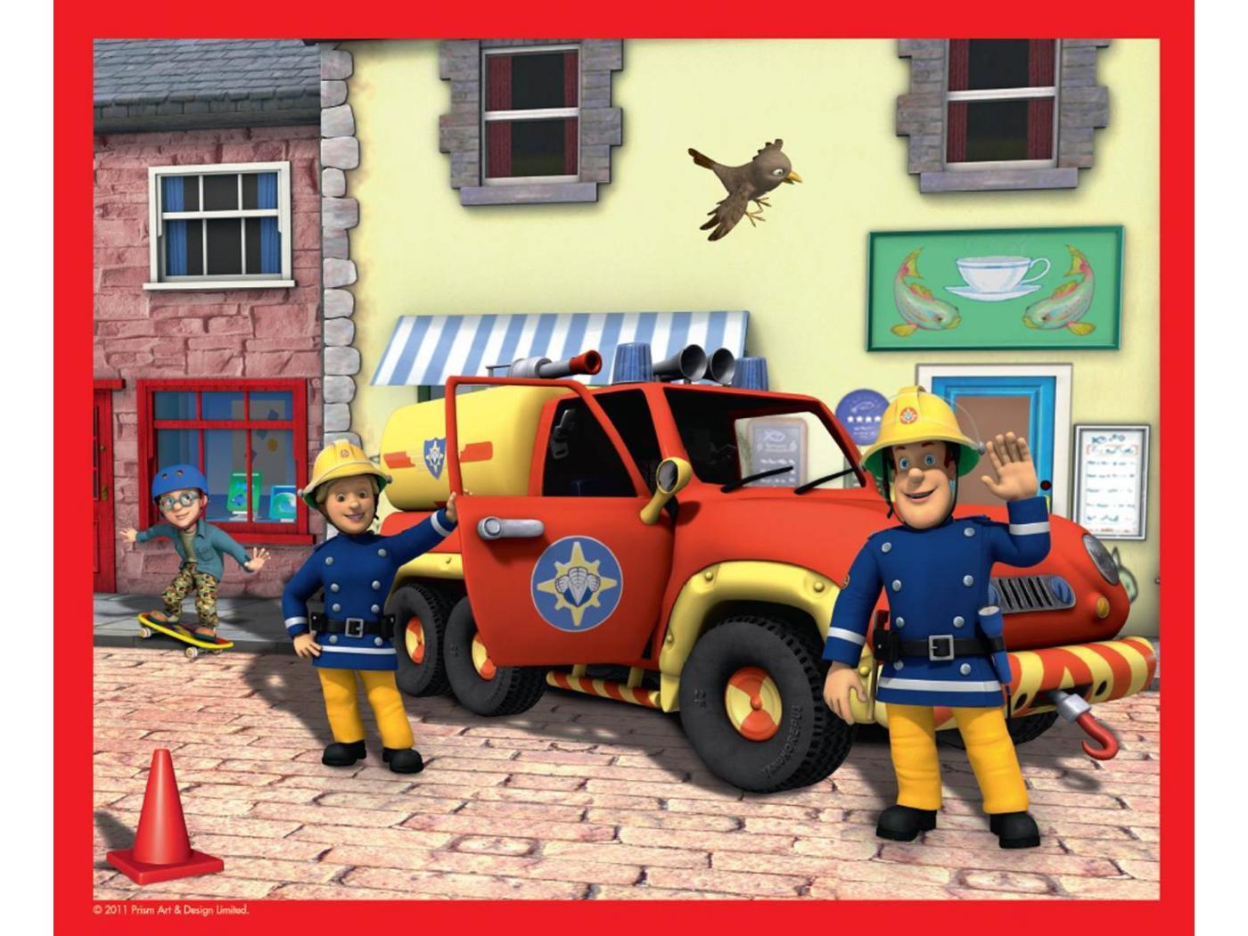 Chambre sam le pompier parure de lit sam le pompier taie